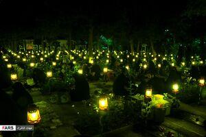 عکس/ شب بیست و سوم ماه رمضان در بهشت زهرا (س)