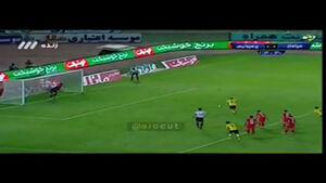 فیلم/پنالتی هدر رفته سپاهان توسط کیانی در دقیقه ۱۱۴