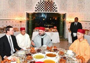 کوشنر سر میز افطاری پادشاه مراکش نشست