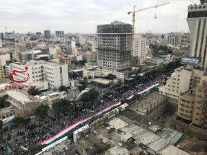 عکس هوایی از راهپیمایی روز قدس در مشهد