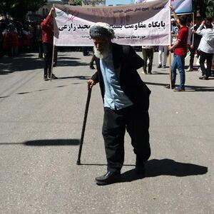 عکس/ پیرمرد ۱۰۹ ساله در راهپیمایی روز قدس