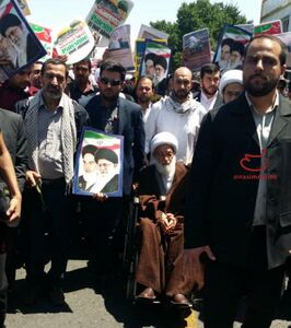 عکس/ حضور شیخ عیسی قاسم در راهپیمایی روز قدس