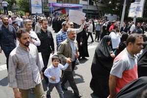 عکس/ حضور سرلشکر جعفری در راهپیمایی روز قدس