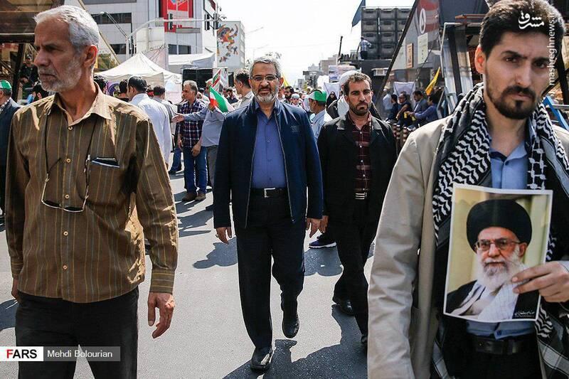 حضور سردار غیبپرور در راهپیمایی روز قدس