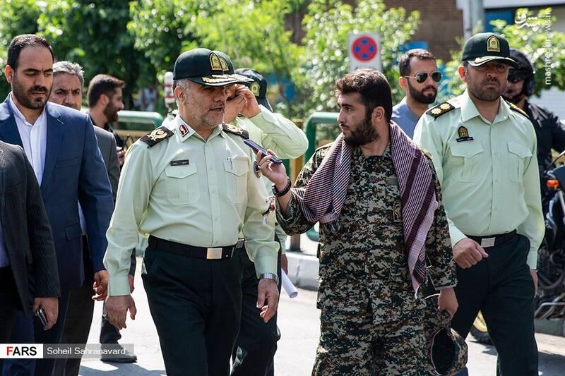 حضور سردار رحیمی در راهپیمایی روز قدس