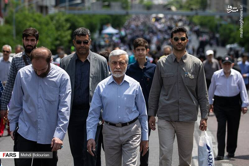 حضور امیر صالحی در راهپیمایی روز قدس