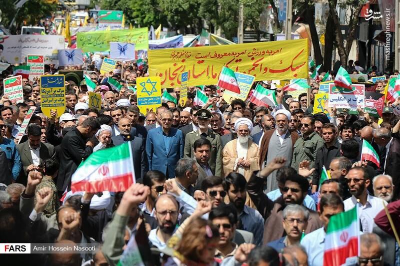 راهپیمایی روز قدس در زنجان