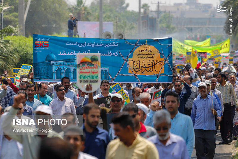 راهپیمایی روز قدس در بندر عباس