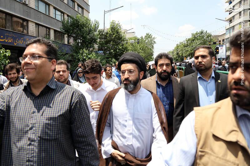 سید مسعود خامنه ای در راهپیمایی روز قدس
