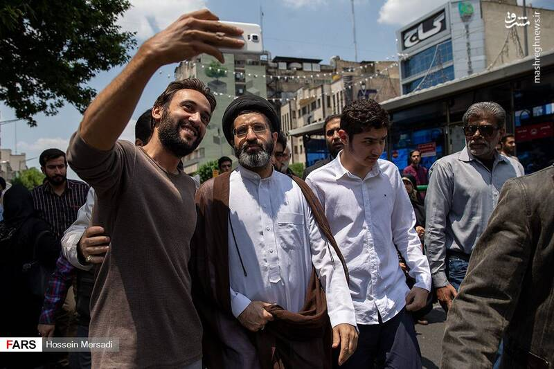 فرزندان رهبر انقلاب در راهپیمایی روز قدس