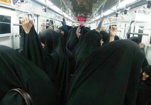ازدحام دختران خیابان انقلاب در مترو +عکس
