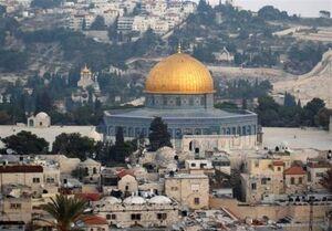 تصویر هوایی از مسجدالاقصی و قبة الصخره