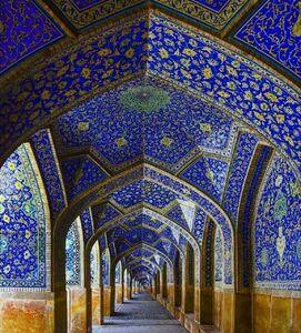 عکس/ شاهکار کاشیکاری و توازن در اصفهان