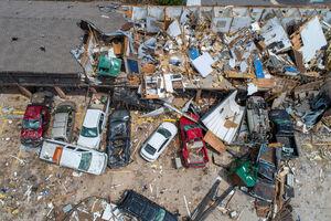 تصاویر جدید از خسارت طوفان مهیب در آمریکا