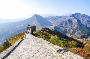 عکس/ نمایی از معروف ترین دیوار جهان