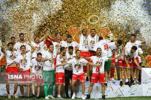 عکس/ جشن قهرمانی پرسپولیس در جام حذفی