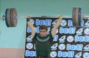 وزنهبردار ایران مدال طلای جهان را بر گردن آویخت