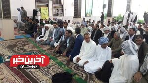 عکس/ حضور دبیر شورای امنیتملی در نماز عید فطر