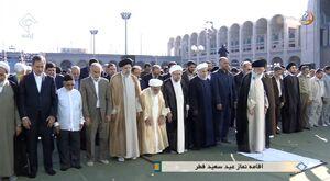 اقامه نماز عیدفطر توسط رهبرانقلاب در مصلی تهران/ حضور پرشور تهرانیها در عید پایان رمضان +عکس و فیلم