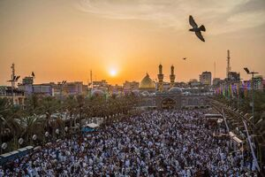 عکس/ نماز عید سعید فطر در بین الحرمین