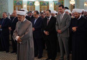 بشار اسد در نماز عید سعید فطر111