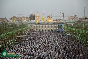 عکس/ اقامه نماز باشکوه عید فطر در کربلا