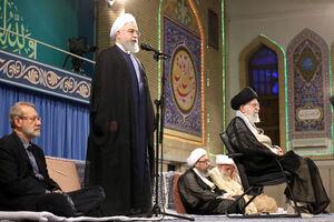 فیلم/ سخنرانی روحانی در حسینیه امام خمینی(ره)
