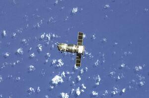 غرق شدن فضاپیمای روسی در اقیانوس آرام