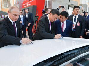 عکس/ سفر رئیس جمهور چین به روسیه