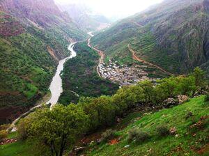 تصویر زیبا از روستای اورامان در کردستان