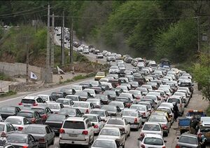 ترافیک سنگین در هراز، چالوس و فیروزکوه