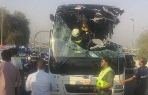 تصادف اتوبوس گردشگردان در دبی ۱۷ کشته بر جای گذاشت +عکس