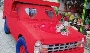 نیسانی که ماشین عروس شد