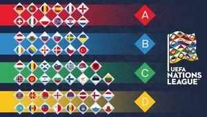 عکس/ جدول گروههای چهارگانه لیگ ملتهای اروپا
