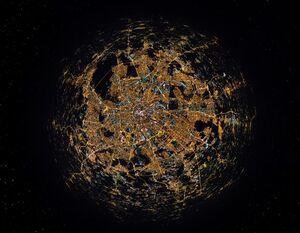 تصویرهوایی 360درجه زیبا از مسکو