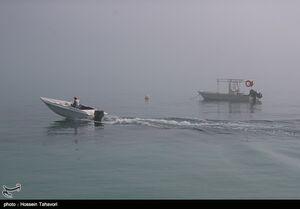 عکس/ مه گرفتگی در جزیره کیش