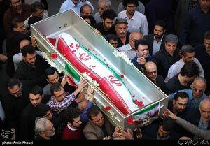 عکس/ مراسم تشییع مادر چهار شهید