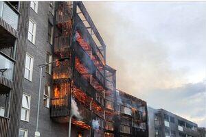 آتشسوزی گسترده در لندن