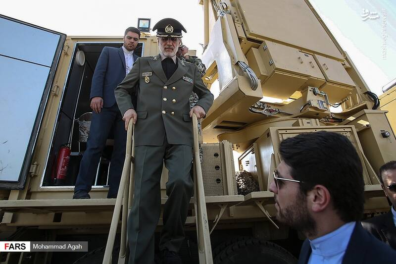 نمایی از سامانه پدافند هوایی «۱۵ خرداد»