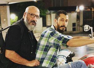 موتور سواری بازیگر پایتخت با امیرجعفری +عکس