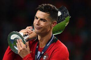 واکنش رونالدو پس از  قهرمانی در لیگ ملتهای اروپا