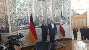 فیلم/ استقبال ظریف از هایکو ماس وزیر خارجه آلمان