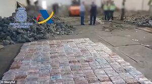 عکس/ جاسازی یک تن کوکائین در سنگ!