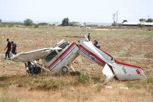 عکس/ سقوط هواپیمای آموزشی در آنتالیا
