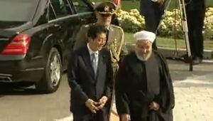 استقبال رسمی از نخست وزیر ژاپن در کاخ سعدآباد