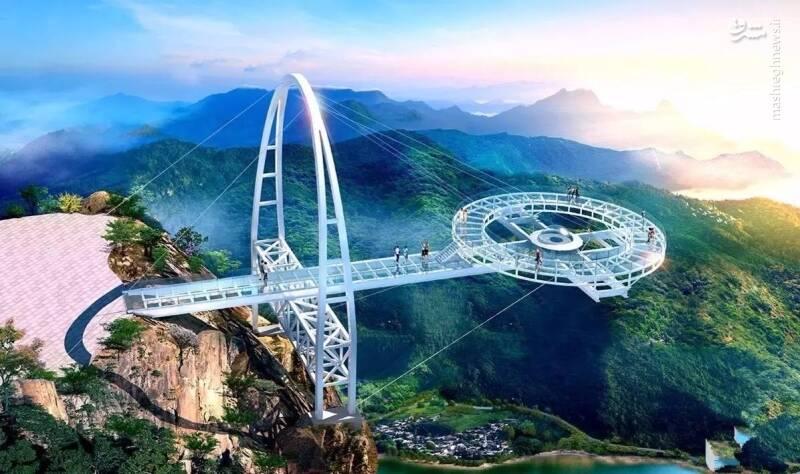 ترسناکترین پل شیشهای جهان/ عکس
