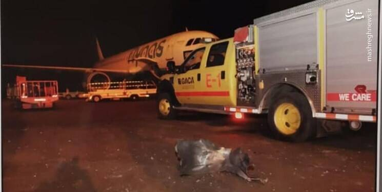 نخستین تصاویر از فرودگاه سعودی أبها بعد از اصابت موشک کروز یمن