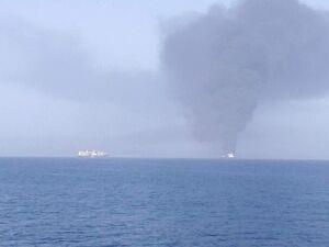 تصویری تأییدنشده از حمله به نفتکشها در دریای عمان