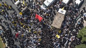عکس/ مراسم تشییع باشکوه «فرمانده حیدر»