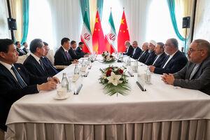 فیلم/ دیدار روسای جمهوری ایران و چین